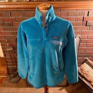 Women's Patagonia Re-Tool Snap-T Fleece Blue L